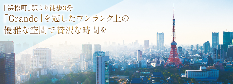 2014年8月 NEW OPEN!JR「浜松町」駅、地下鉄「大門」駅より徒歩3分。「品川」へ2駅5分、「東京」へ3駅6分。東京モノレールで羽田空港にも直結。ビジネスにレジャーに便利な都心アクセスです。